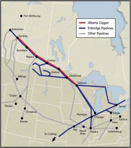 Enbridge Pipeline Map. Click image for more.