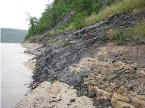 Oil Sands Natural Leakage to Athabasca River. Click image for the largest view.