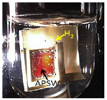 Autonomous Plasmonic Solar Water Splitter from UCSB. Click image for the largest view.