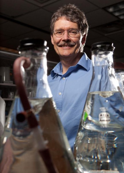Michael Adams in his Lab at University of Georgia. Click image for the largest view,