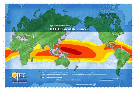 OTEC Resource Map 2009 Lockheed Martin. Click Image for the largest view.  Image Credit: Lockheed Martin composition, DOE data.