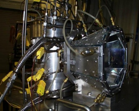 Solar Water Splitting Hydrogen Lab Test Unit at CU. Click image for the largest view.