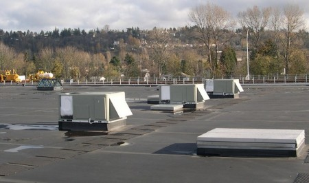 Packaged Rooftop HVAC Units Example.  Click image for the largest view.  Image Credit: Pacific Northwest National Laboratory.