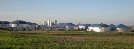 Biomethane Production Plant. According to the report some 277 biogas upgrading plants in different countries with a production capacity of around 100,000 Nm³/h of biomethane are already in operation. Image Credit: DBFZ  Click image for the largest view.