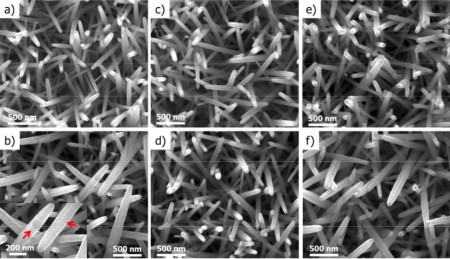 QMUL Grown ZnO Nanorods with Coatings.  Click image for more info.