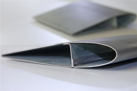 Blow Molded Steel Wind Turbine Blade Cross Section from Fraunhofer Institute.  Click image for the largest view.  Image Credit: Fraunhofer Institute.