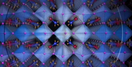A new class of solar cells known as Hybrid Organic Inorganic Perovskites Shown in a graphic. Image Credit: Nicoletta Barolini, Columbia University.