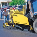 The Bomag 4413 Asphalt Paver At Work