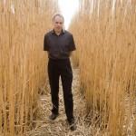 Professor Stephen Long in a Miscanthus Field