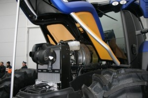 Under the hood of the New Holland Fuel Cell Tractor