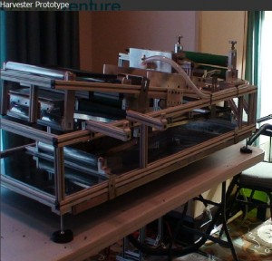 AlgaeVenture Harvester Dewaterer Dryer Prototype. Click image for a larger view.