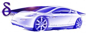Delta Motorsport X-prize Entry Artists Rendition.  Click image for a larger view.