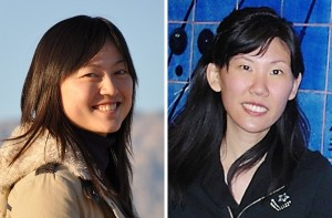 Stanford Scientists Yu Lin on left and Wendy Mao.
