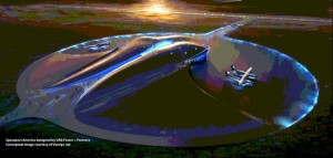 Spaceport America Terminal Concept. Click image for a larger view.