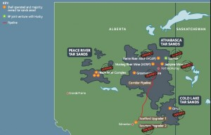 Canadian Tar Sands Map. Click image for the largest view.