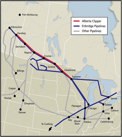 Enbridge Pipeline Map : New Energy and Fuel