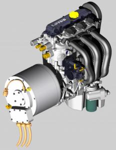 Lotus Range Extender Engine Generator Set. Click image for more information.