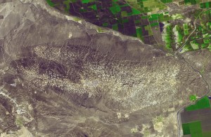 Satellite View of Elk Hills Oil Field.  Click image for more information