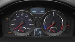 Volvo C30 BEV Instruments.  Click Image for the largest view.