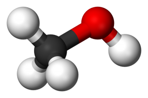 Methanol Model With 3D Balls, Click image for the largest view.