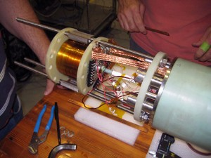NHMFL 32 Tesla Superconducting Coil. Click image for more info.