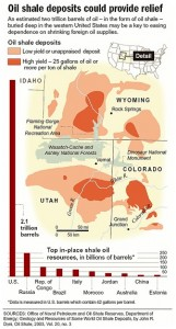 US Oil Shale Deposit Map. Click image for the largest view.