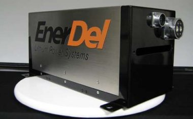 An EnerDel battery Pack as Used in the Chevy Volt.  Click image for the largest view.