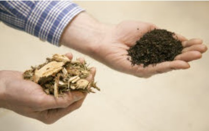 Woody Biomass and Torrefied Wood Biomass Sample. Click image for more info.