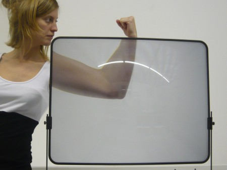 Fresnel Lens For TV Viewing Application. Click image for the largest view.