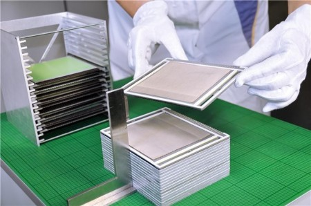 Fuel Cell Stacking at Fraunhofer IKTS.  Click image for the largest view.  Image Credit: © Fraunhofer IKTS