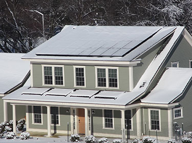 Net Zero Home Snowed In.  Click image for the largest view.
