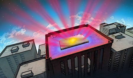 Photonic Radiative Cooler Artists Rendering.  Click image for more info.