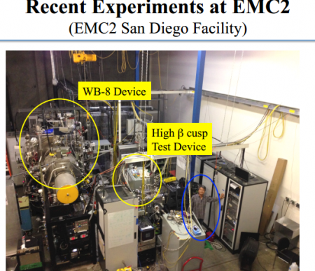 EMC2 WB-8 Lab in San Diego.  Image Credit Jseyoung Park, University of Wisconsin.  Click image for the largest view.