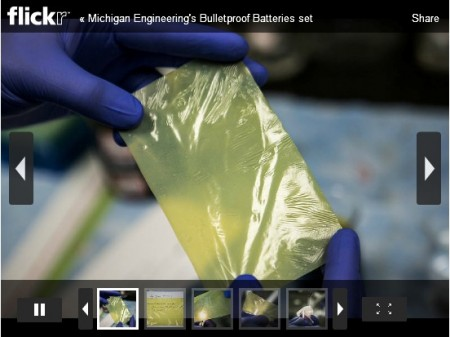 Kevlar For Lithium Ion Battery Electrode Separator.  Click Image for the link to the Flickr [age.  Click the Flickr slideshow link for a full screen slideshow.
