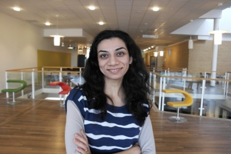 Ms Tiva Sharifi, Umeå University, Sweden.  Click image for the largest view.