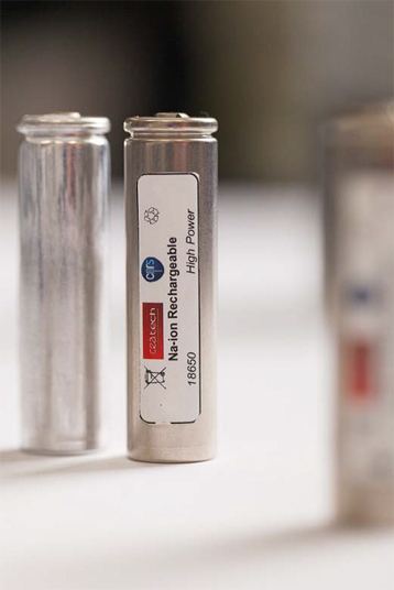 "Standard ""18650"" sodium-ion (Na-ion) batteries, the first-ever in this format. Click image for the largest view. Image Credit: CRNS. Click the Press Release link for more photos and links to more information."