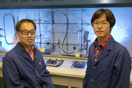 Yu Seung Kim (left) and Kwan-Soo Lee (right). Image Credit Los Alamos National Lab. Click image for the largest view.