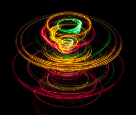 Using light Harvard researchers show how a spinning electrons might look. Image Credit: Harvard University. Click image for the largest view.